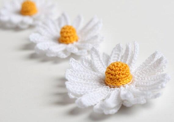 PDF Pattern - Crochet Daisy Flower 3D