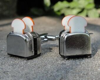 Toaster Cufflinks