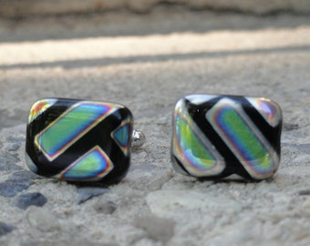 Neon colored cufflinks