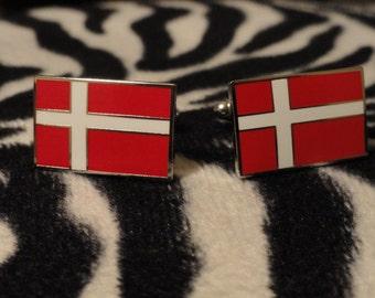 Danish Flag Cufflinks