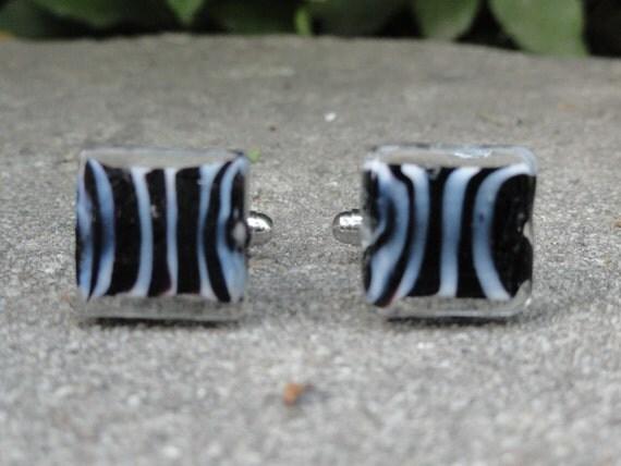 Zebra Stripe Cufflinks