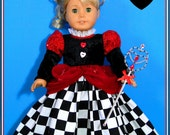 Halloween Dark Queen of Hearts Elite Collection Costume for American Girl or other 18 inch doll