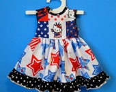 """Patriotic Dress for American Girl or other 18"""" Doll"""