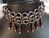 Antiqued Copper Chainmaille Choker