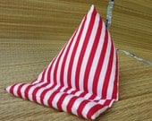 Red and White Striped stand small