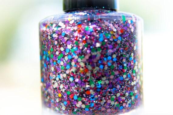Dragon Scales: Nail Polish Custom blended Glitter Lacquer (matte)