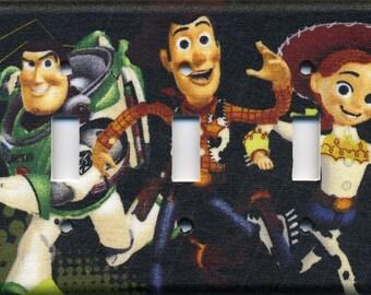 Buzz Lightyear, Woody, And Jessie Toy Story Triple Light Switch Plate