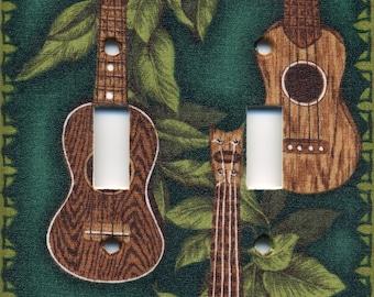 Hawaii Guitar Ukulele Double Light Switch Plate