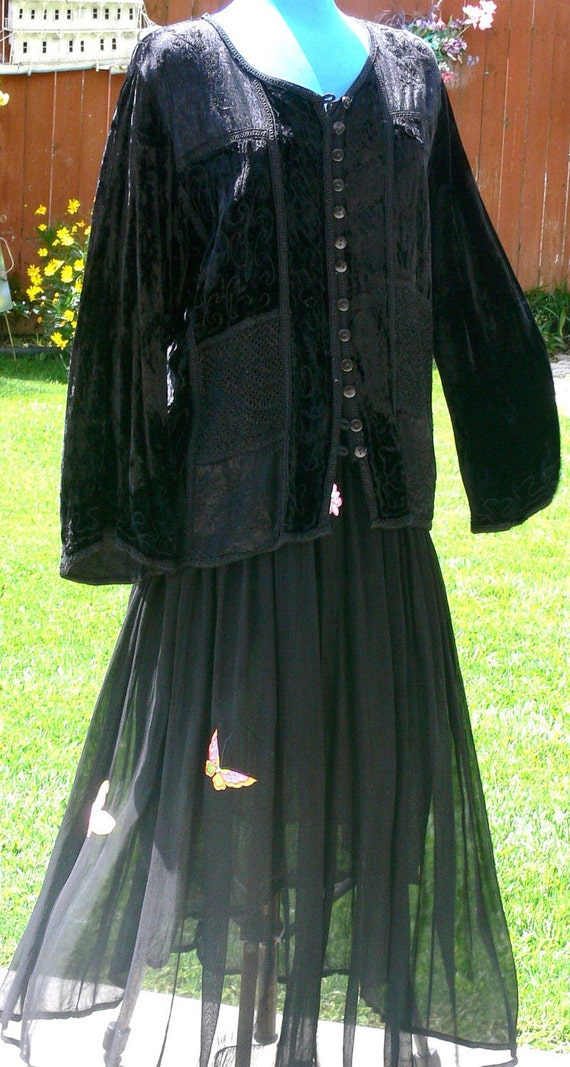 black sheer skirt size large