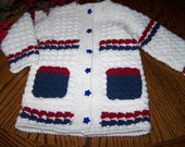 Red, White and Blue Cardigan / Jacket-size 2
