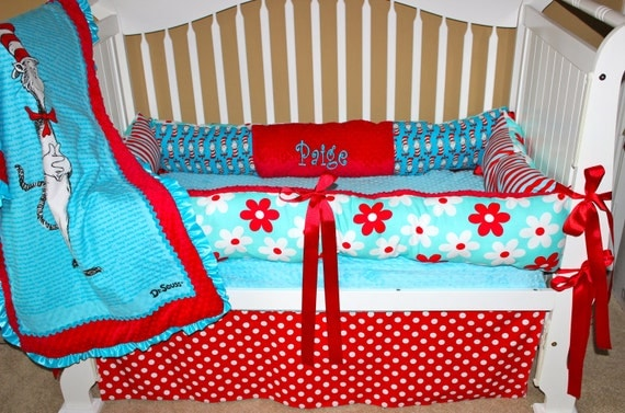 Custom Dr. Seuss Crib Set by BabiesNBaubles