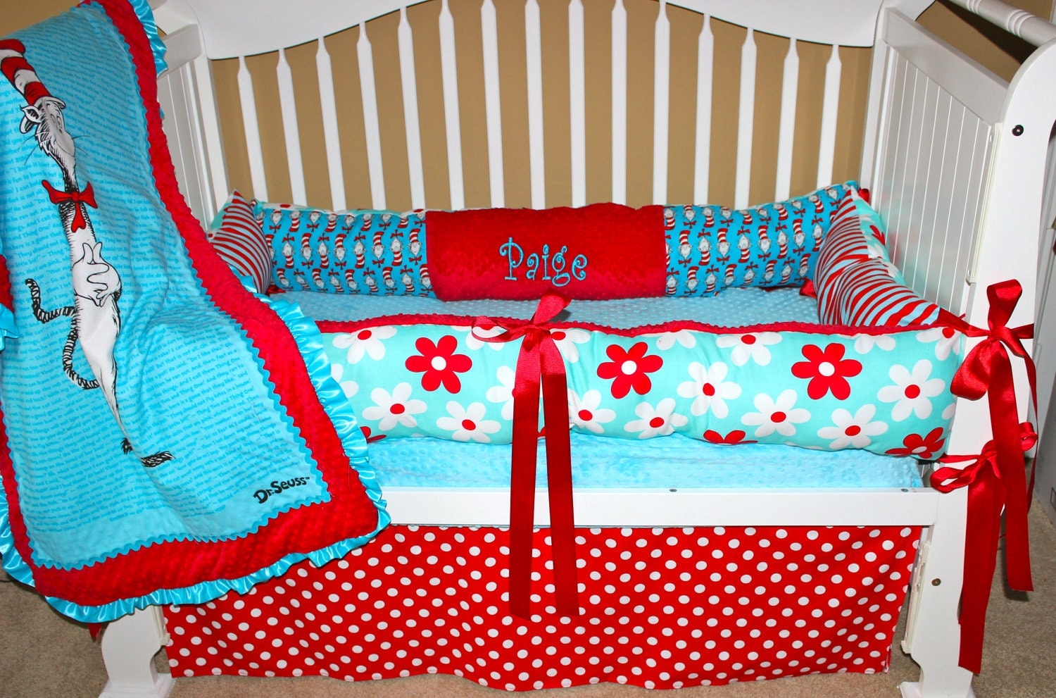 Custom Baby Bedding Dr Seuss Set