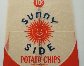 Vintage Sunny Side Potato Chip Bag