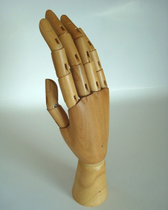 Articulated Wooden Hand Model