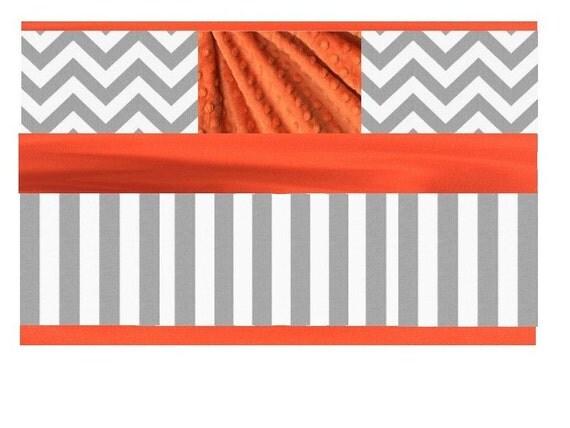Baby Bedding Crib Set Gray Orange Reserved For Stasha