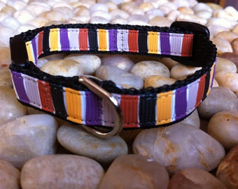 "1/2"" Width Cat Collar - Dusk Stripe"