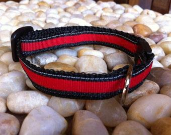 "1/2"" Width Cat Collar - Red/Black Lollipop"