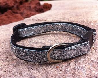 "1/2"" Width Cat Collar - Silver Glitter"