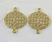 2 Pcs - Matte Gold Plated Small Filigree Lantern/Connectors,Earrings,Pendants (20x17MM)