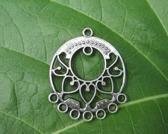 2 pcs  - 33x28mm  -  Tibetan Silver Earring Connectors Findings
