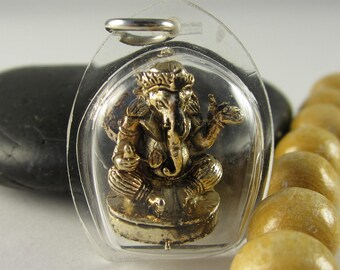 1 pc  - Ganesh Elephant Pendant, Amulet, Ganesa, Ganapati Ganesha, Lord of Success, Hindu Elephant-Deity (20x20MM)