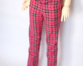 SD13 Girl Pink Plaid Pants For Ball Jointed Dolls