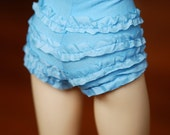 SD Retro Blue Ruffled Underpants For Ball Jointed Dolls - Free Shipping