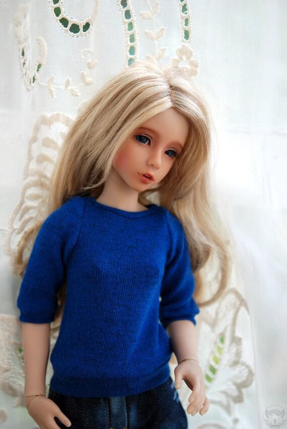 OOAK Cobalt Blue Sweater For BJD MSD