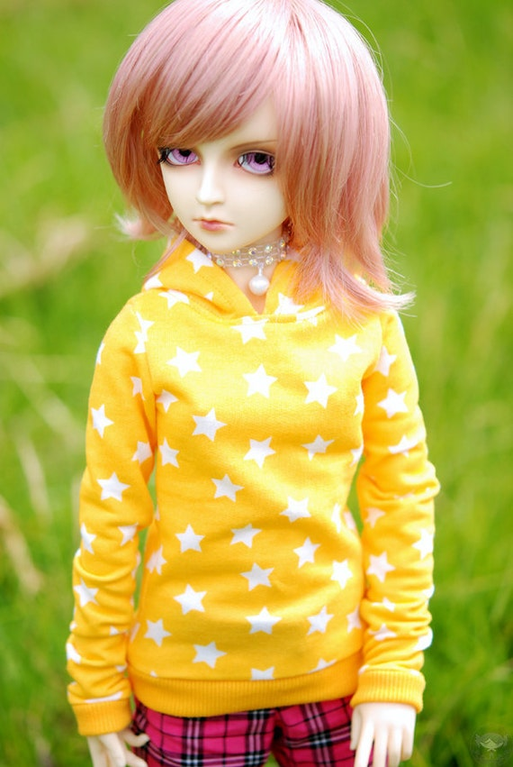 Super Dollfie Yellow Star Hoodie For SD BJD Boys and Girls - Last One