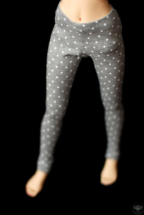 SD Grey And White Spot Leggings For BJD