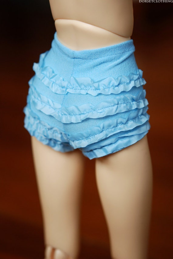 SD Retro Blue Ruffled Underpants For Ball Jointed Dolls