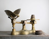 Antique Cast Iron and Brass Mercantile Candy Scale