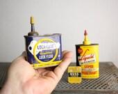Vintage Garage Tins - Oil Fuses Lubes - Set of Five
