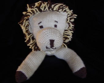 Knitted Leo the Lion