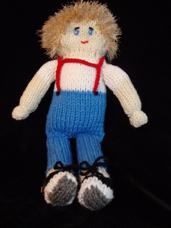 Hand Knit Boy Doll
