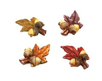 Autumn Leaf Cabochons  35mm