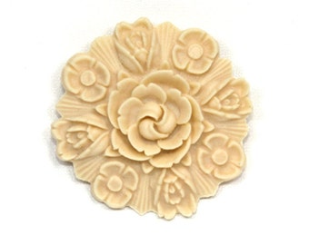 Floral Cabochon Reproduction Japanese 55mm