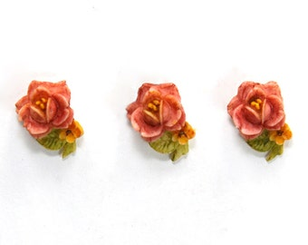 Mini Rose Cabochons 12mm