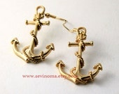vintage style Sailor anchor earrings