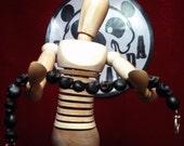 Black Stone Skull Bracelet - Can Be Customized