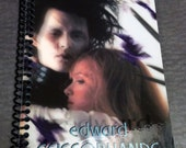 Edward Scissorhands Upcycled Notebook Great Stocking Stuffer