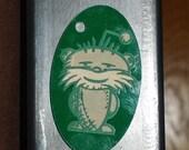 Loralient Keychain on Green Acrylic