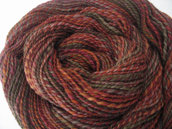 Mulled Spice, Rustic Handspun Yarn, 175 yards, worsted weight