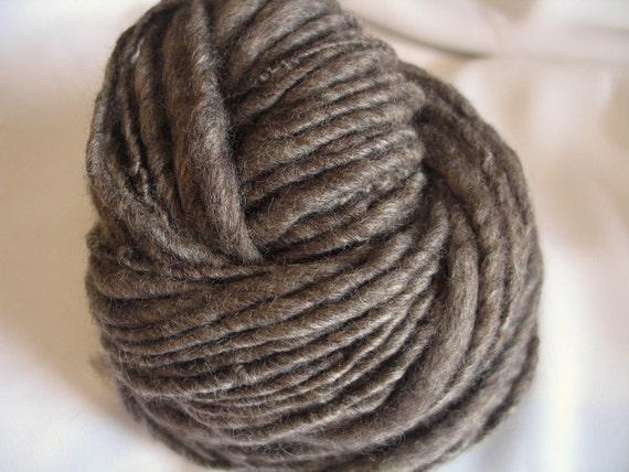 Driftwood, Rustic Handspun single ply Yarn, 64 yards, bulky weight