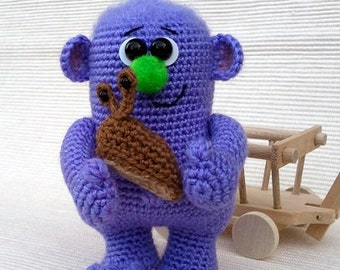 Garden monster master of snails - amigurumi PDF crochet pattern
