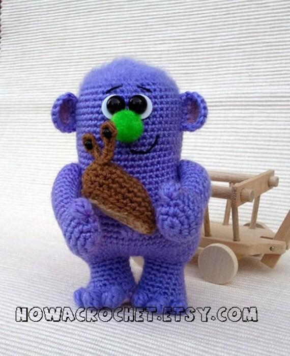 Garden monster master of snails - amigurumi PDF crochet pattern