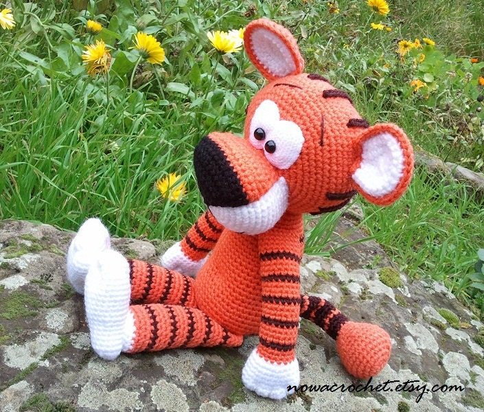 Tiger Walter amigurumi PDF crochet pattern