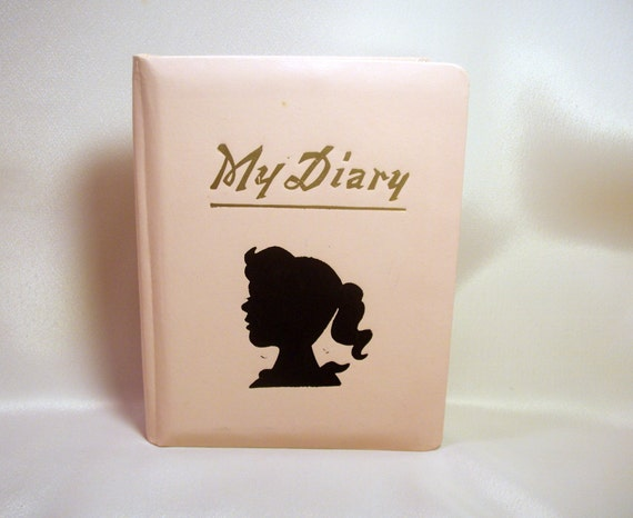 Vintage Pink Diary / Silhoutte Cover