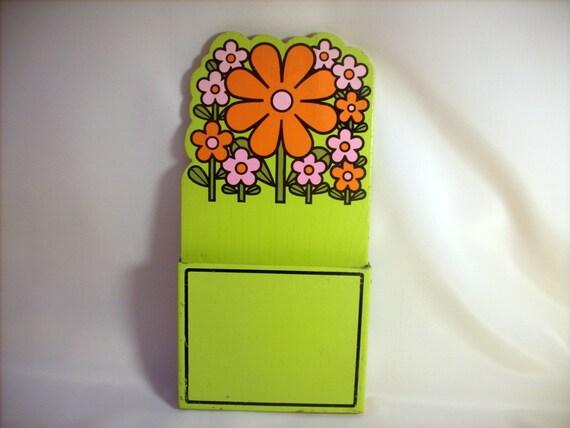 Retro Flower Power Paper Holder / Takahashi / Japan