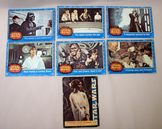 Vintage STAR WARS 1977 Topps Cards / Lot of 7